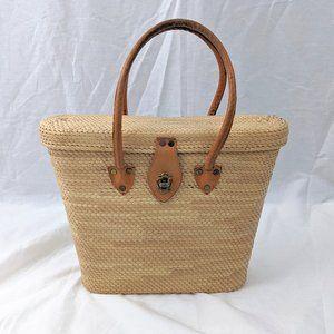 VINTAGE 70s Wicker Handbag